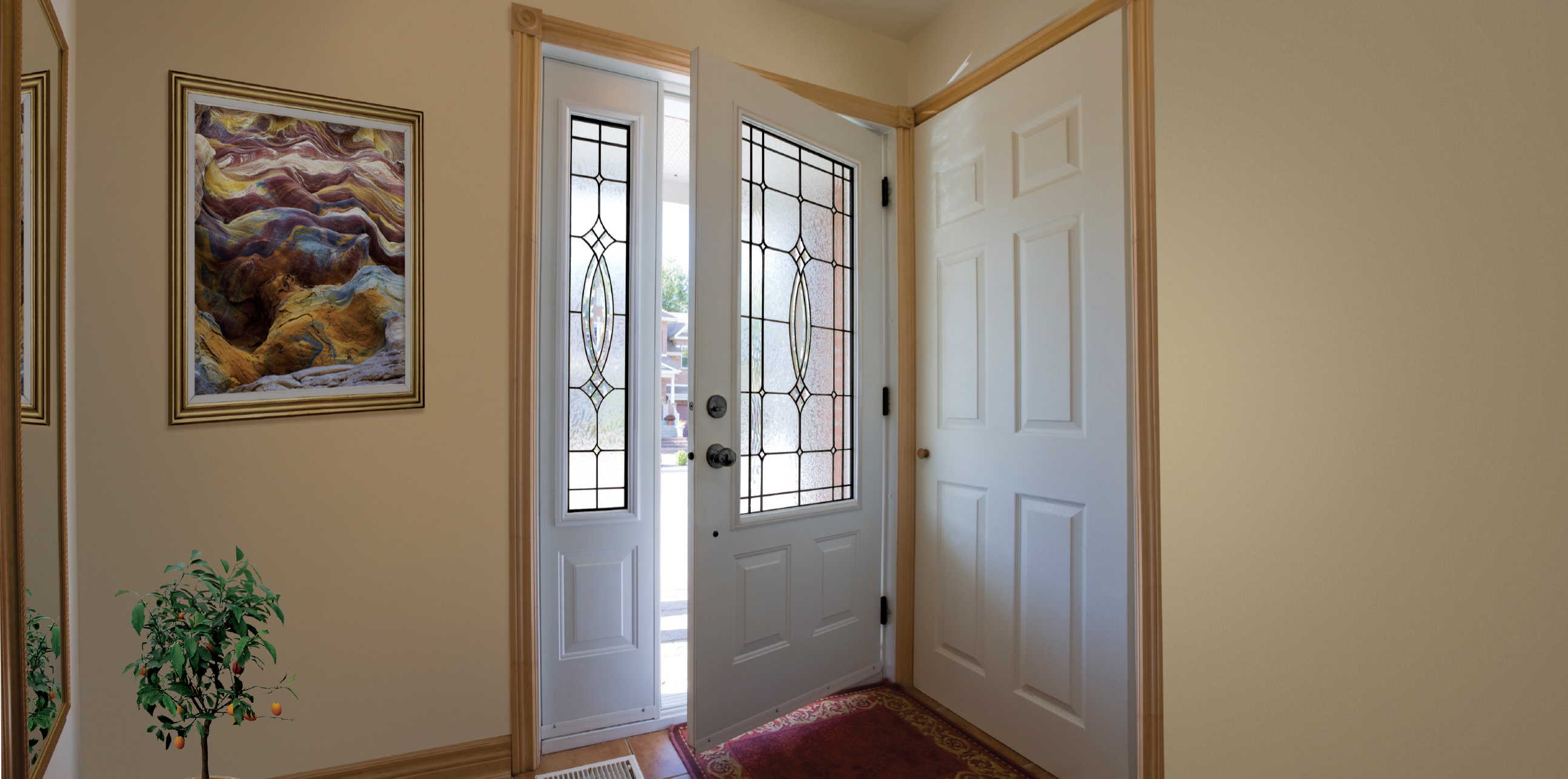 Looking outside entry doors maritime door window - Exterior doors that open to the outside ...
