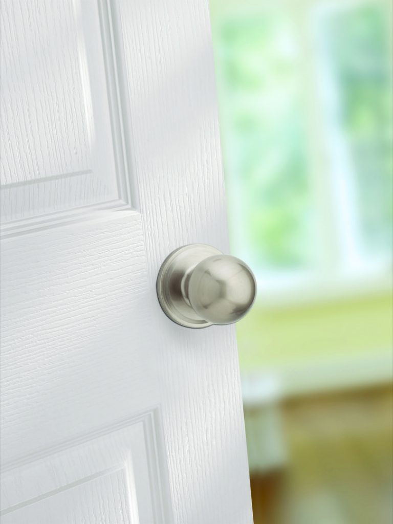 huntington passage knob in satin nickel lifestyle