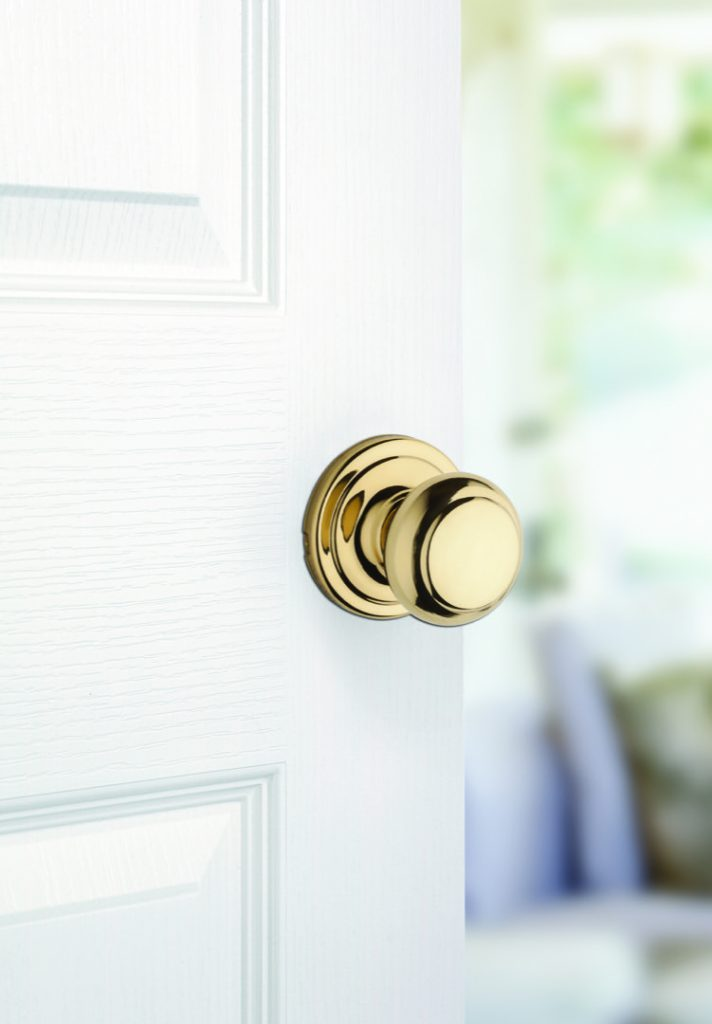 troy passage knob in polished brass lifestyle